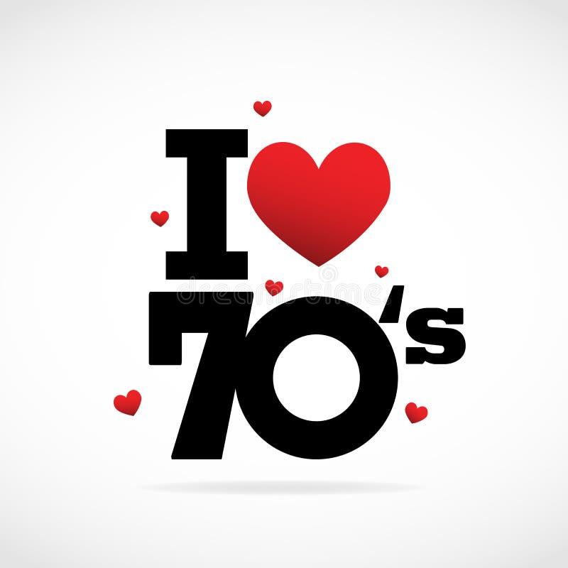 Icona di anni settanta illustrazione di stock