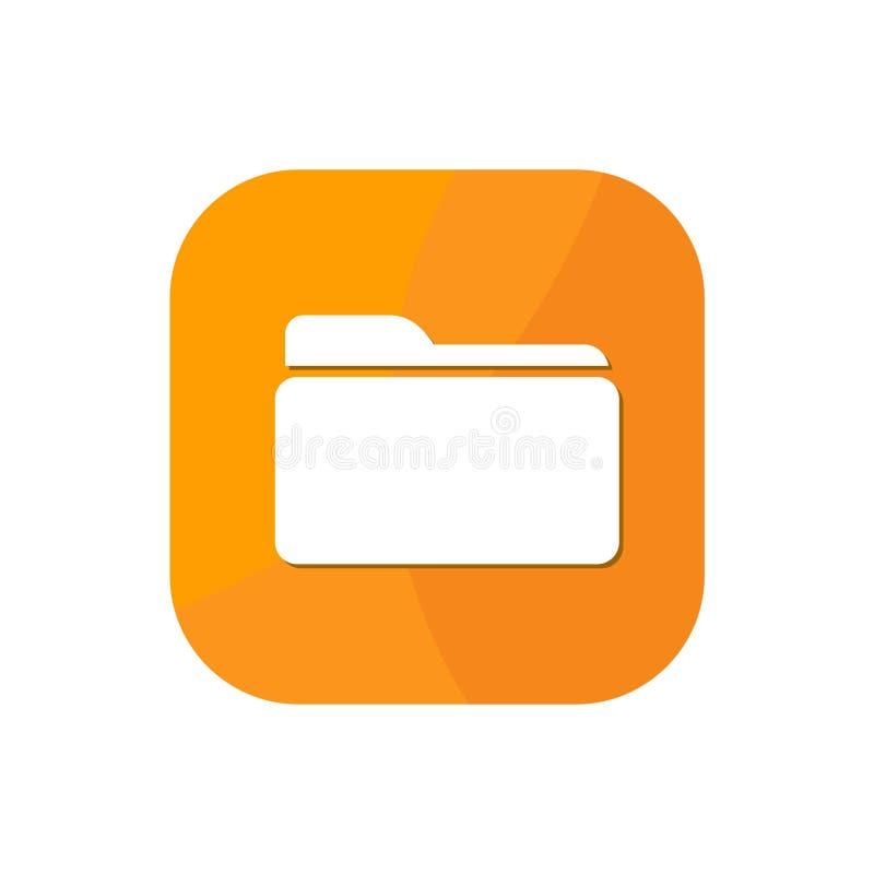 Icona di App della cartella immagine stock