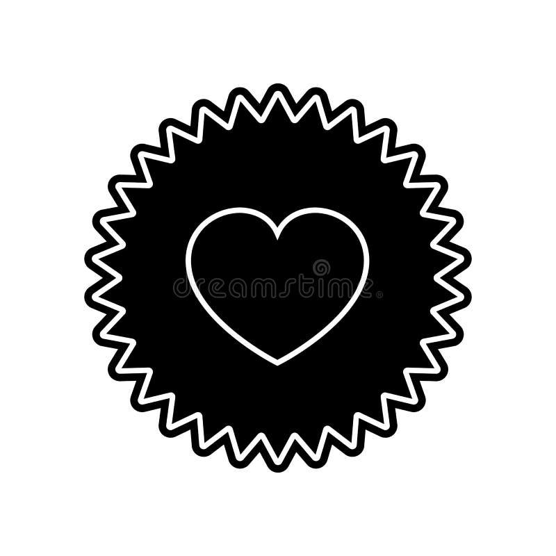 icona di appello del cuore Elemento del biglietto di S. Valentino per il concetto e l'icona mobili dei apps di web Glifo, icona p royalty illustrazione gratis