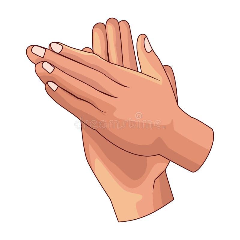 Icona di applauso di mani illustrazione vettoriale