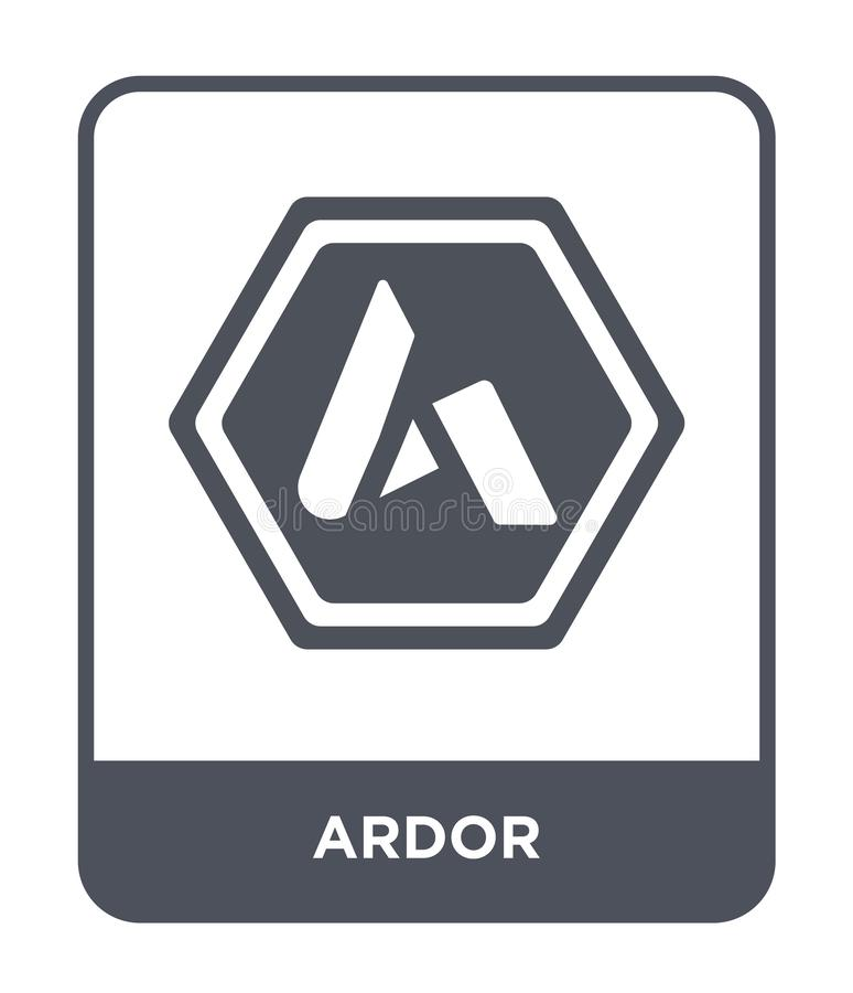 icona di ardore nello stile d'avanguardia di progettazione icona di ardore isolata su fondo bianco simbolo piano semplice e moder royalty illustrazione gratis