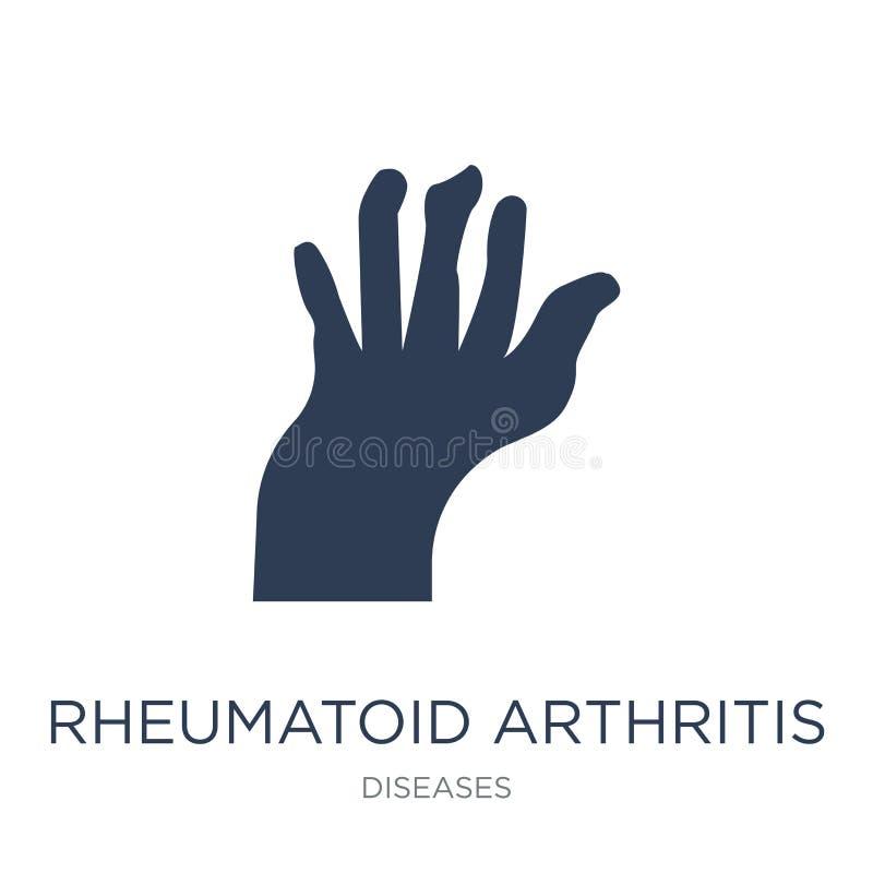 Icona di artrite reumatoide Arthrit reumatoide di vettore piano d'avanguardia illustrazione di stock