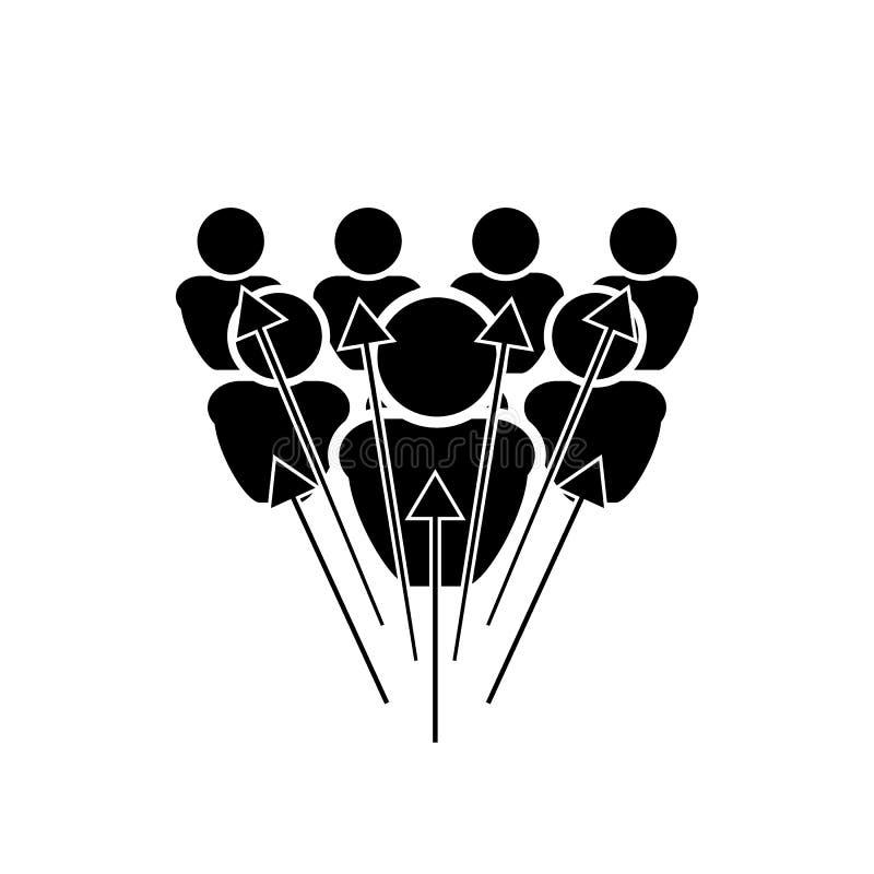 Icona di assegnazione di vettore, illustrazione in bianco e nero isolata illustrazione vettoriale