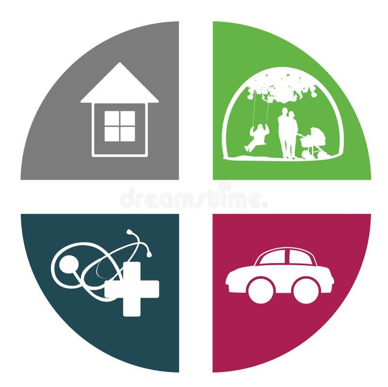 Icona di assicurazione illustrazione vettoriale