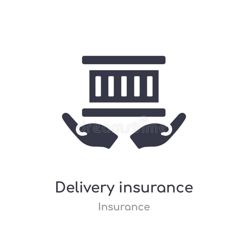 Icona di assicurazione di consegna illustrazione isolata di vettore dell'icona di assicurazione di consegna dalla raccolta di ass illustrazione di stock