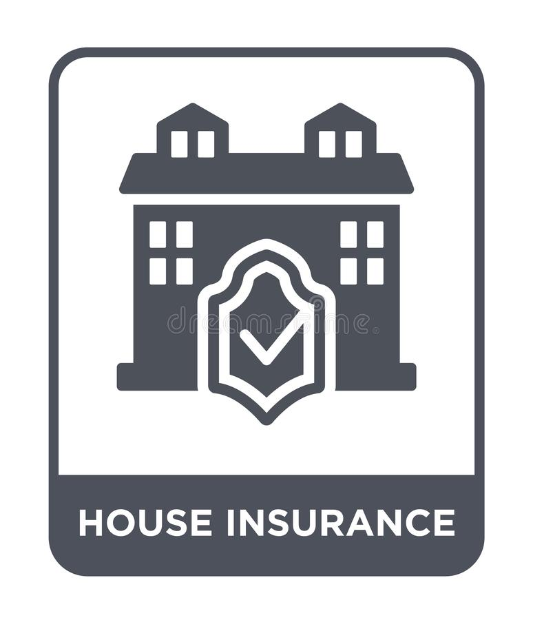 icona di assicurazione della casa nello stile d'avanguardia di progettazione icona di assicurazione della casa isolata su fondo b illustrazione vettoriale
