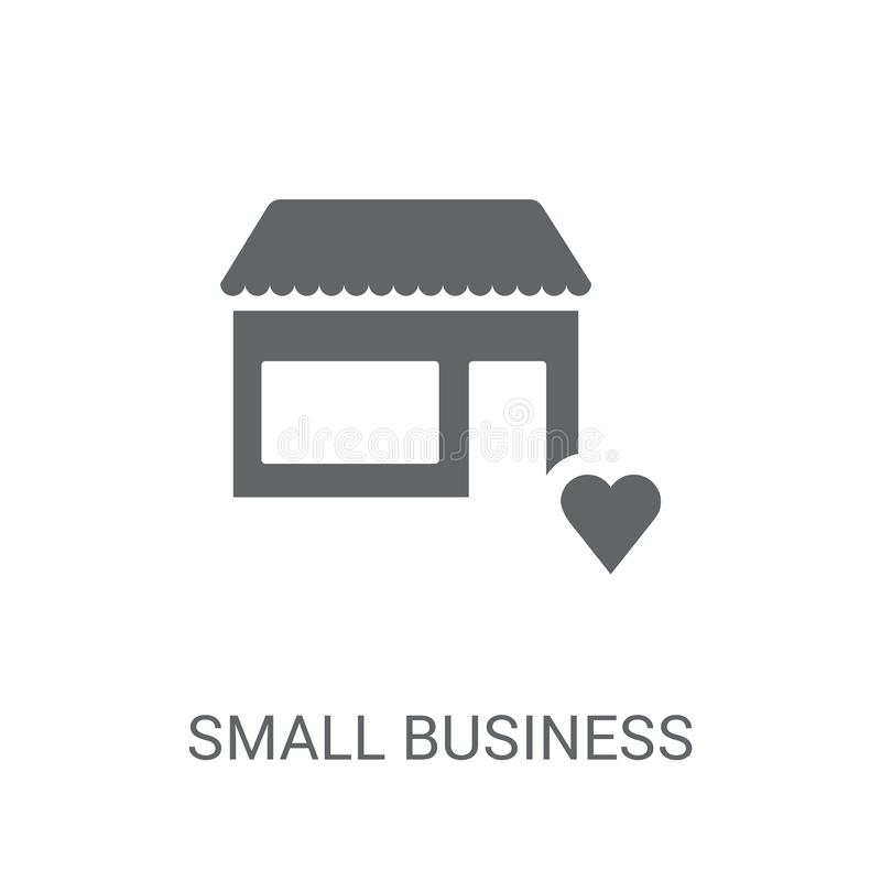 icona di assicurazione di piccola impresa Assicurazione d'avanguardia l di piccola impresa illustrazione vettoriale