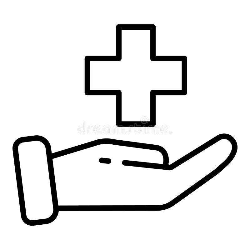 Icona di assistenza medica, stile del profilo royalty illustrazione gratis