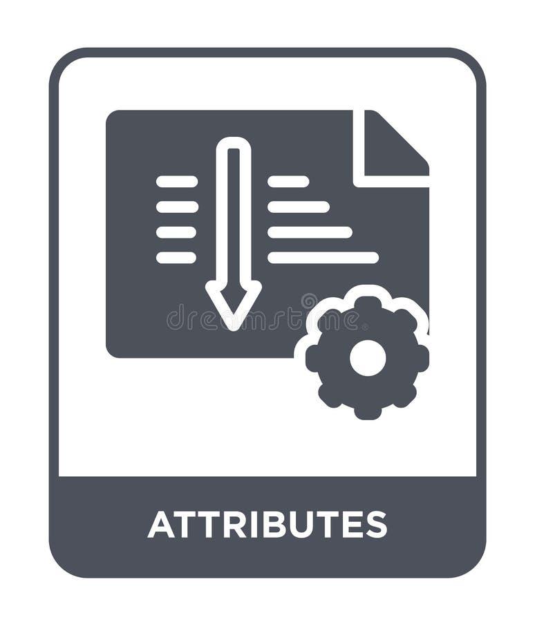 icona di attributi nello stile d'avanguardia di progettazione icona di attributi isolata su fondo bianco icona di vettore di attr royalty illustrazione gratis
