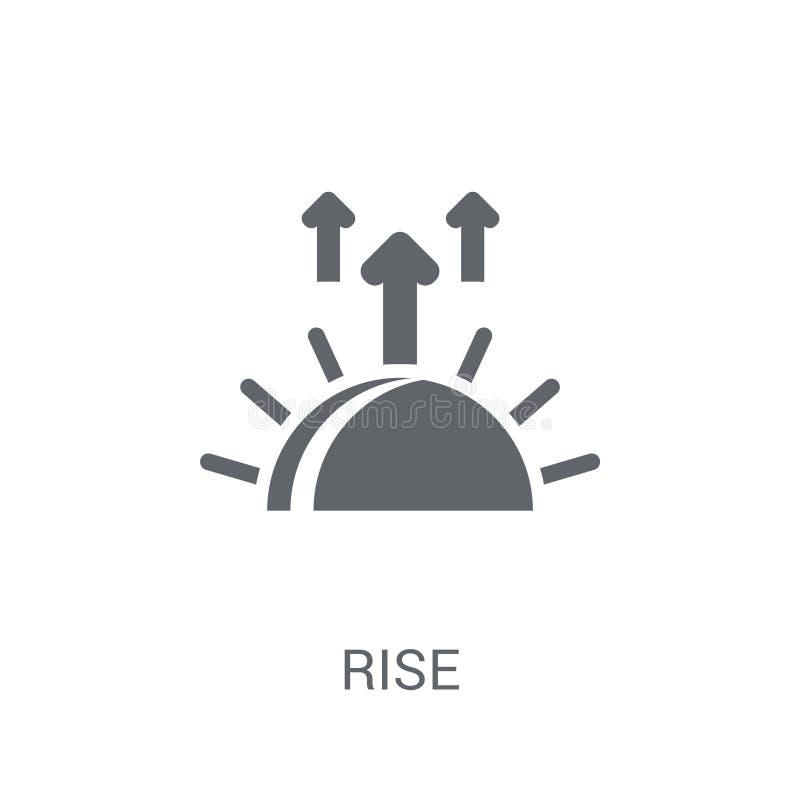 Icona di aumento Concetto d'avanguardia di logo di aumento su fondo bianco da Sta illustrazione vettoriale