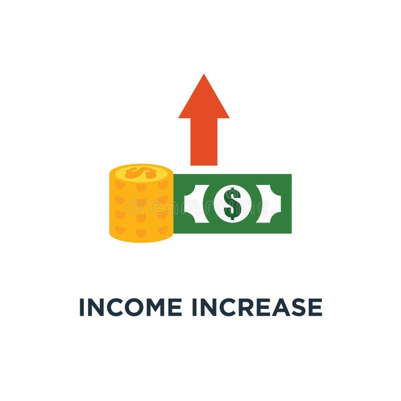 icona di aumento del reddito strategia finanziaria, crescita del reddito, tasso di interesse, progettazione di simbolo di concett royalty illustrazione gratis
