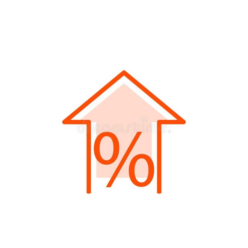 Icona di aumento di Percen illustrazione di stock