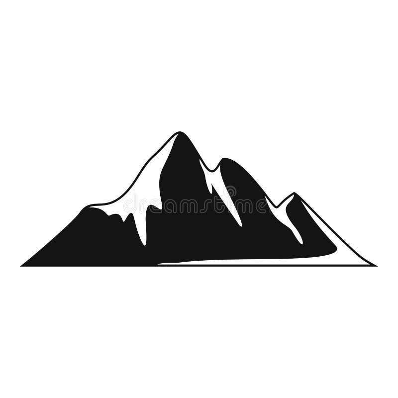 Icona di avventura della montagna, stile semplice royalty illustrazione gratis
