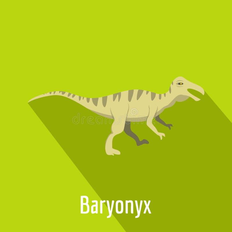 Icona di Baryonyx, stile piano illustrazione vettoriale