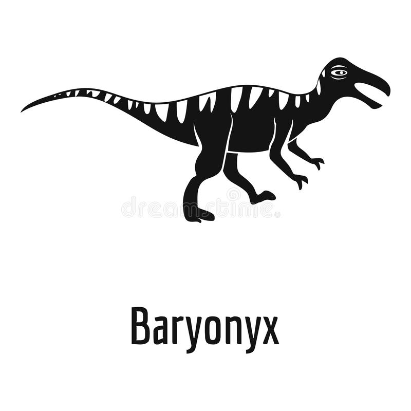 Icona di Baryonyx, stile semplice royalty illustrazione gratis