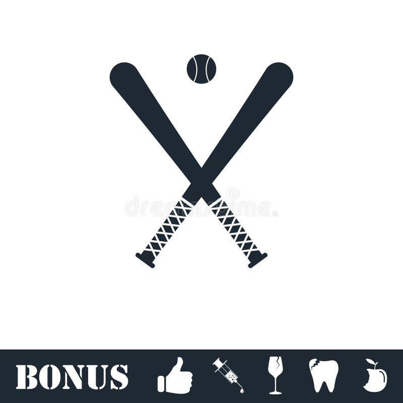 Icona di baseball piana royalty illustrazione gratis