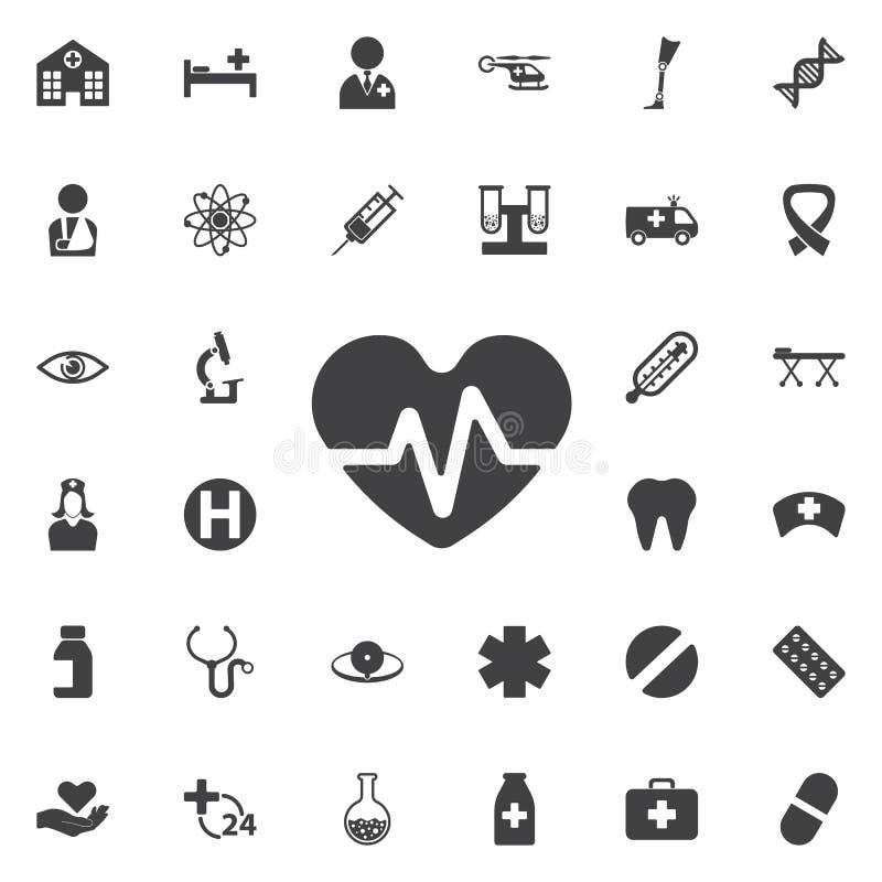 Icona di battito cardiaco illustrazione di stock