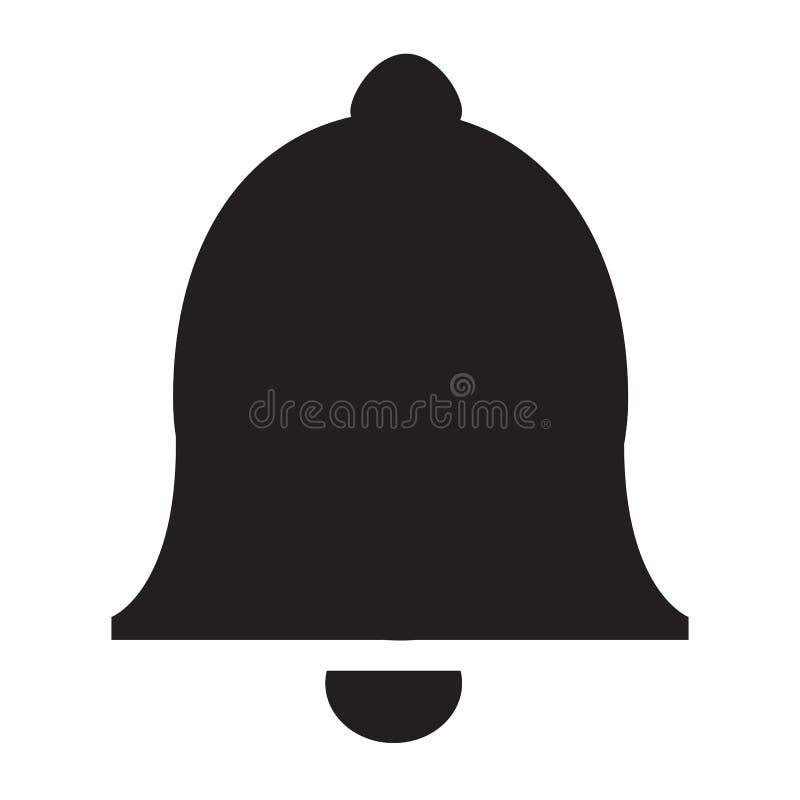Icona di Bell nello stile piano d'avanguardia royalty illustrazione gratis