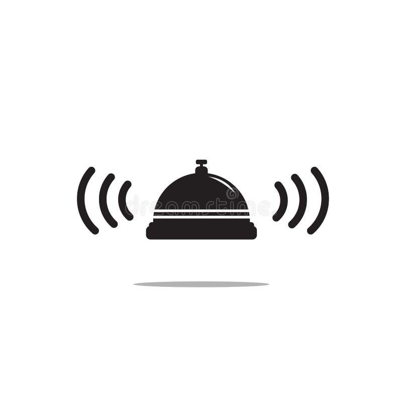 Icona di Bell su fondo bianco Indicatore luminoso di vettore art royalty illustrazione gratis