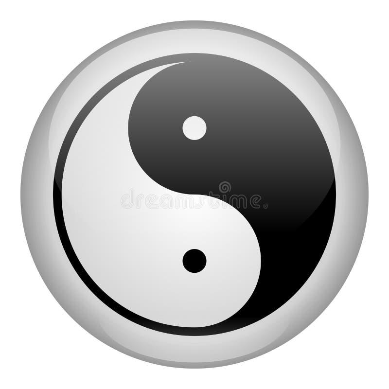 Icona di bianco del Yin-Yang illustrazione di stock