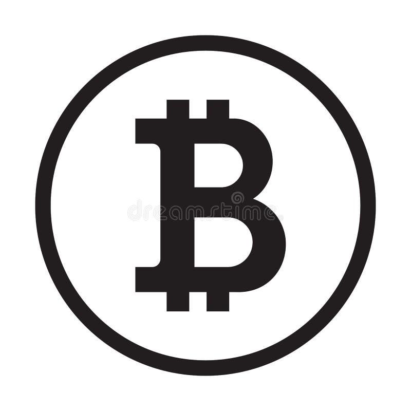 Icona di Bitcoin, logo della moneta Siluetta cripto di simbolo di valuta Vettore di concetto di commercio elettronico royalty illustrazione gratis