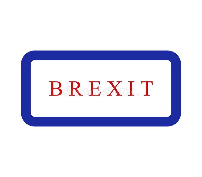 Icona di Brexit illustrata illustrazione di stock