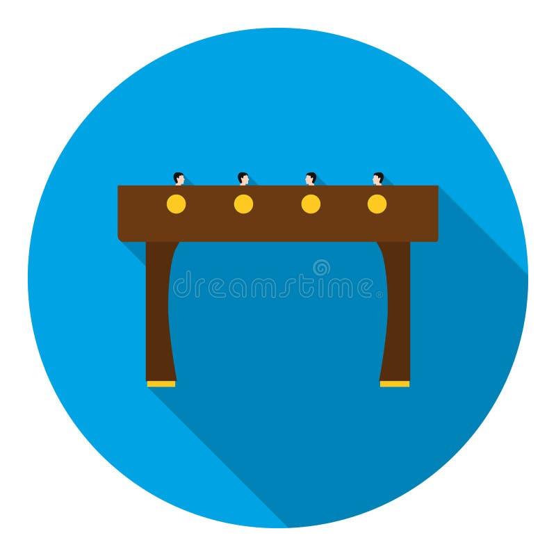 Icona di calcio-balilla nello stile piano su fondo bianco Illustrazione di vettore delle azione di simbolo dei giochi da tavolo illustrazione di stock