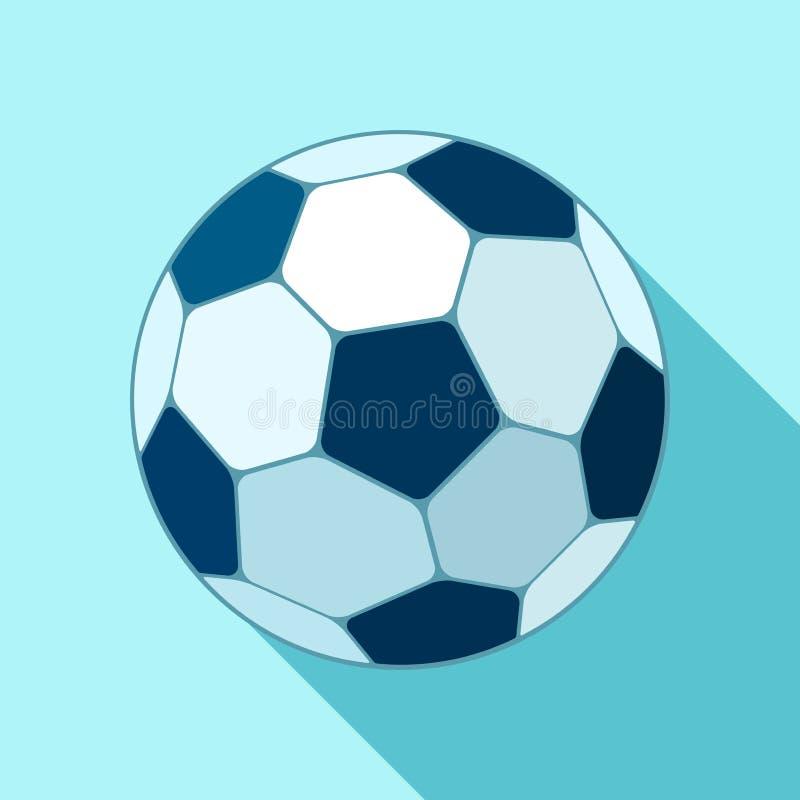 Icona di calcio nello stile piano Vector la sfera di calcio Oggetto di sport per voi progetti di progettazione illustrazione di stock
