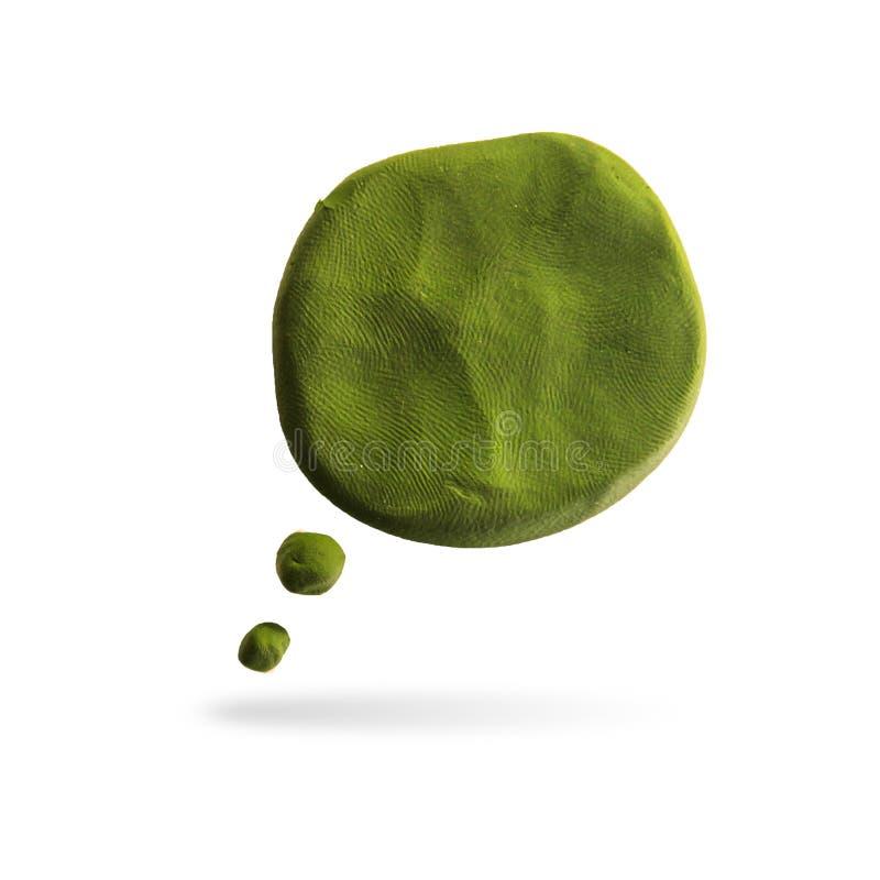 Icona di Callout, modellante argilla illustrazione di stock