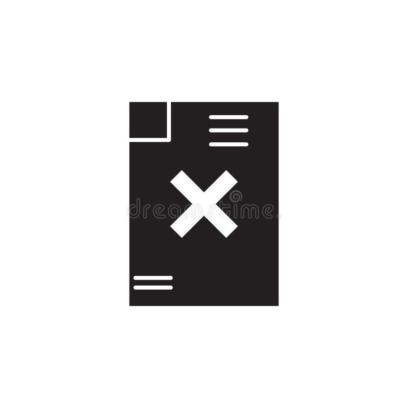 Icona di cancellazione dell'archivio o del testo illustrazione vettoriale