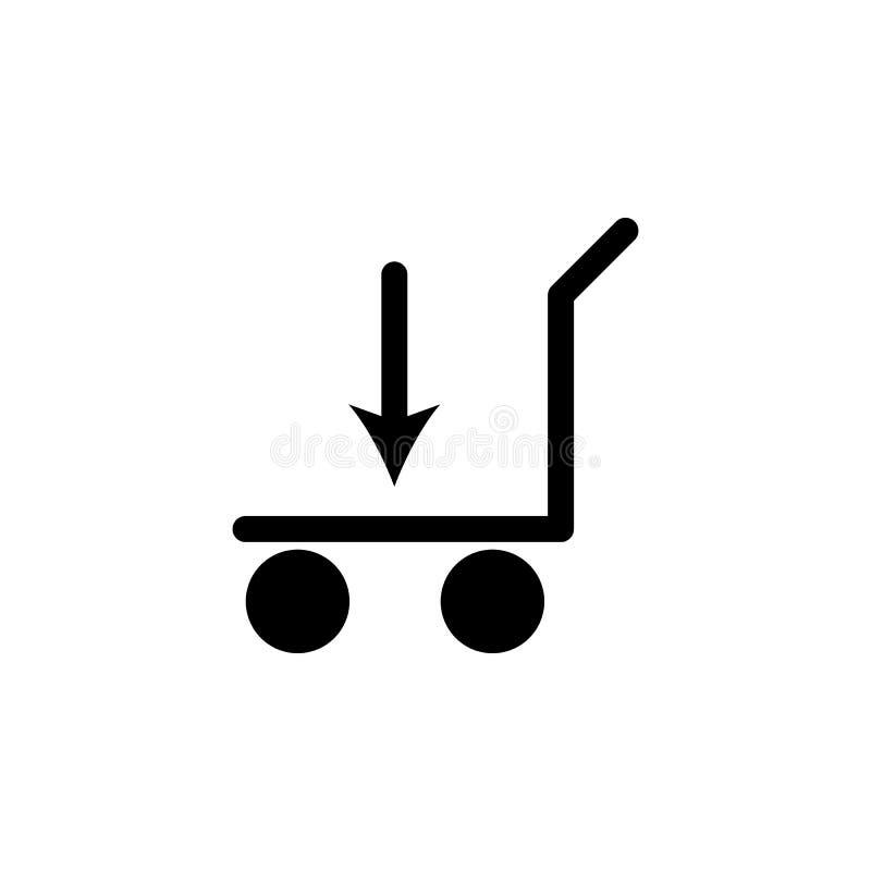 icona di caricamento del carrello ferroviario Elemento delle icone di web Icona premio di progettazione grafica di qualità Segni  illustrazione vettoriale