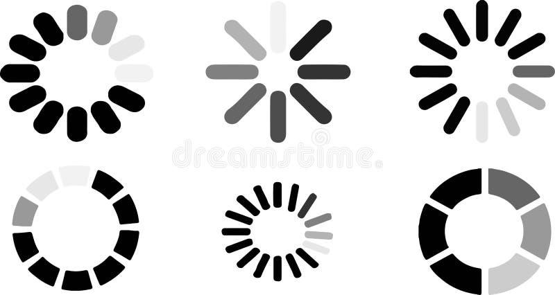 Icona di caricamento su fondo bianco illustrazione di stock