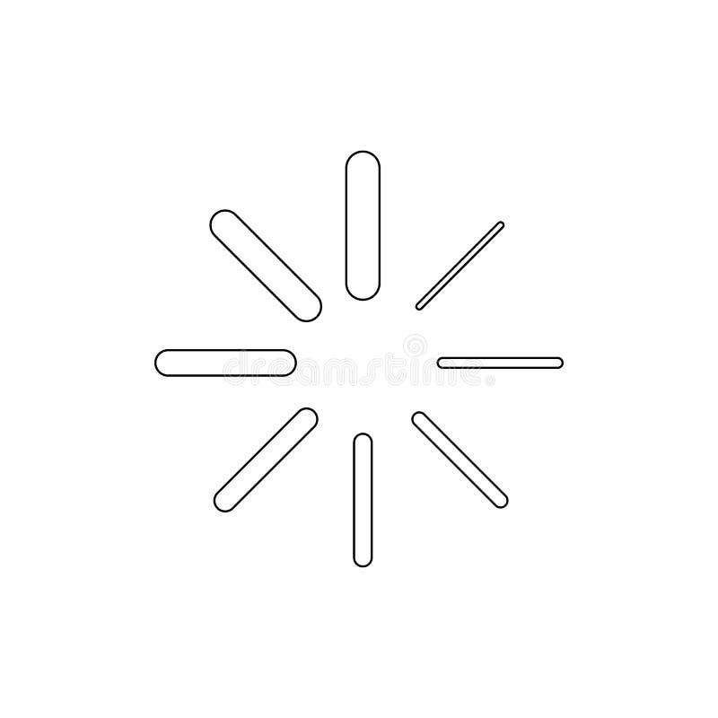 Icona di carico del profilo di progresso I segni ed i simboli possono essere usati per il web, logo, app mobile, UI, UX illustrazione vettoriale
