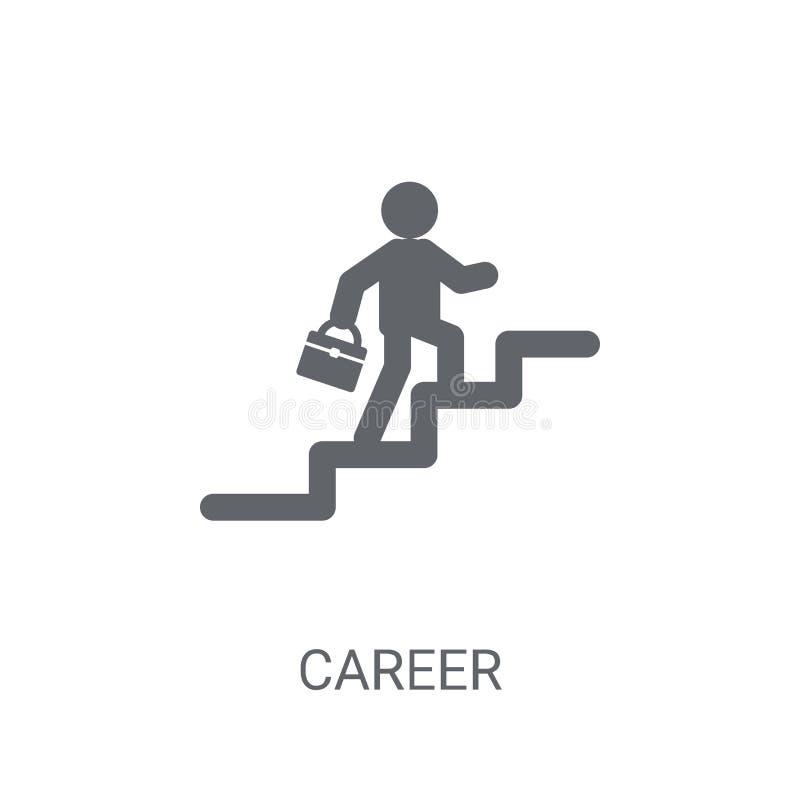 Icona di carriera Concetto d'avanguardia di logo di carriera su fondo bianco da illustrazione vettoriale