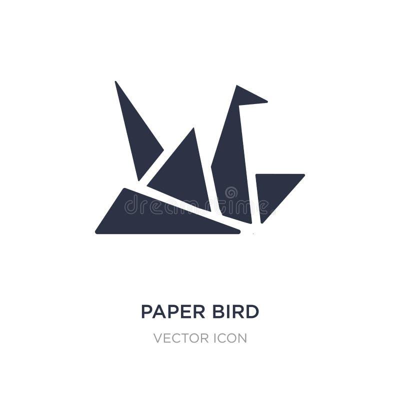 icona di carta dell'uccello su fondo bianco Illustrazione semplice dell'elemento dal concetto di UI royalty illustrazione gratis