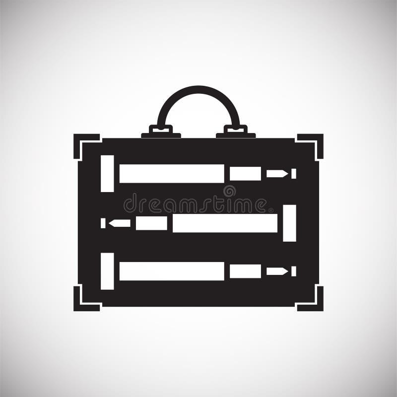 Icona di caso su fondo per il grafico ed il web design Segno semplice di vettore Simbolo di concetto di Internet per il bottone d royalty illustrazione gratis