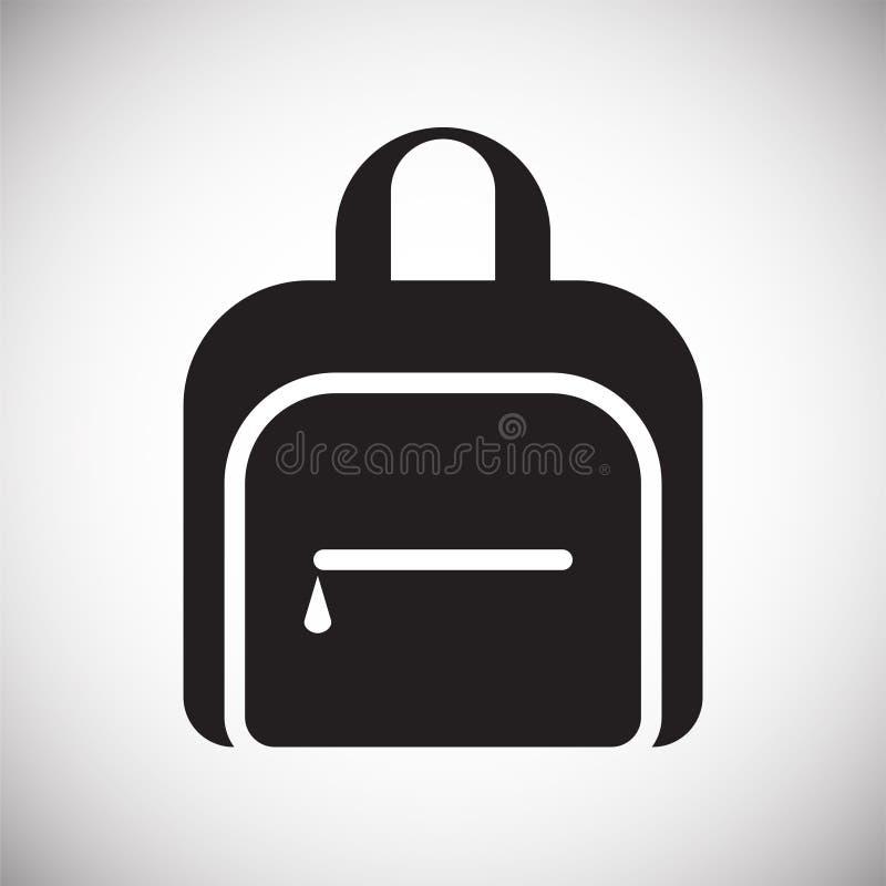 Icona di caso su fondo per il grafico ed il web design Segno semplice di vettore Simbolo di concetto di Internet per il bottone d illustrazione di stock