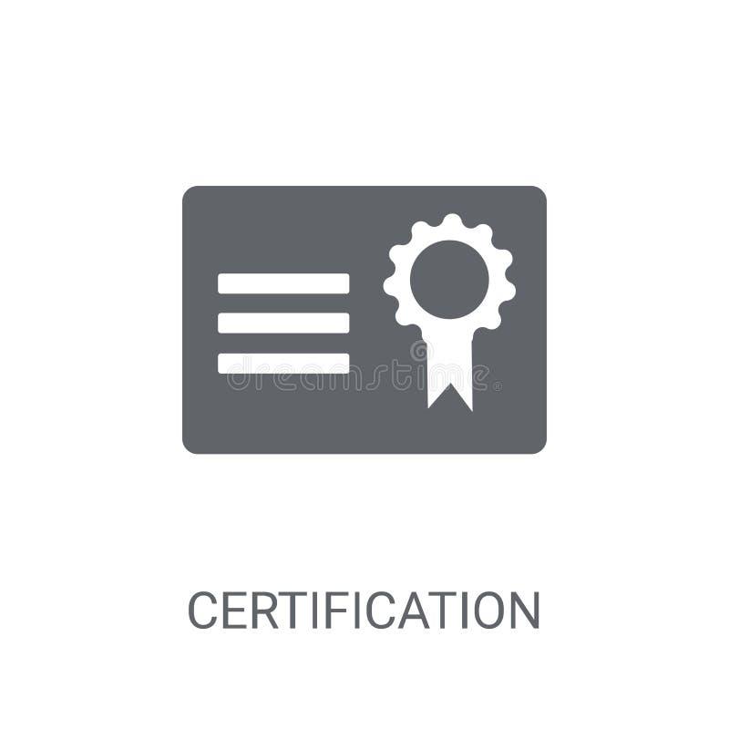 Icona di certificazione Concetto d'avanguardia di logo di certificazione sulla b bianca royalty illustrazione gratis