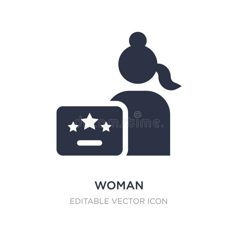 icona di certificazione della donna su fondo bianco Illustrazione semplice dell'elemento da Seo e dal concetto di web royalty illustrazione gratis