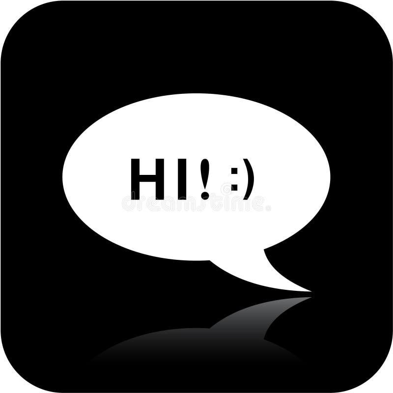 Icona di chiacchierata illustrazione vettoriale
