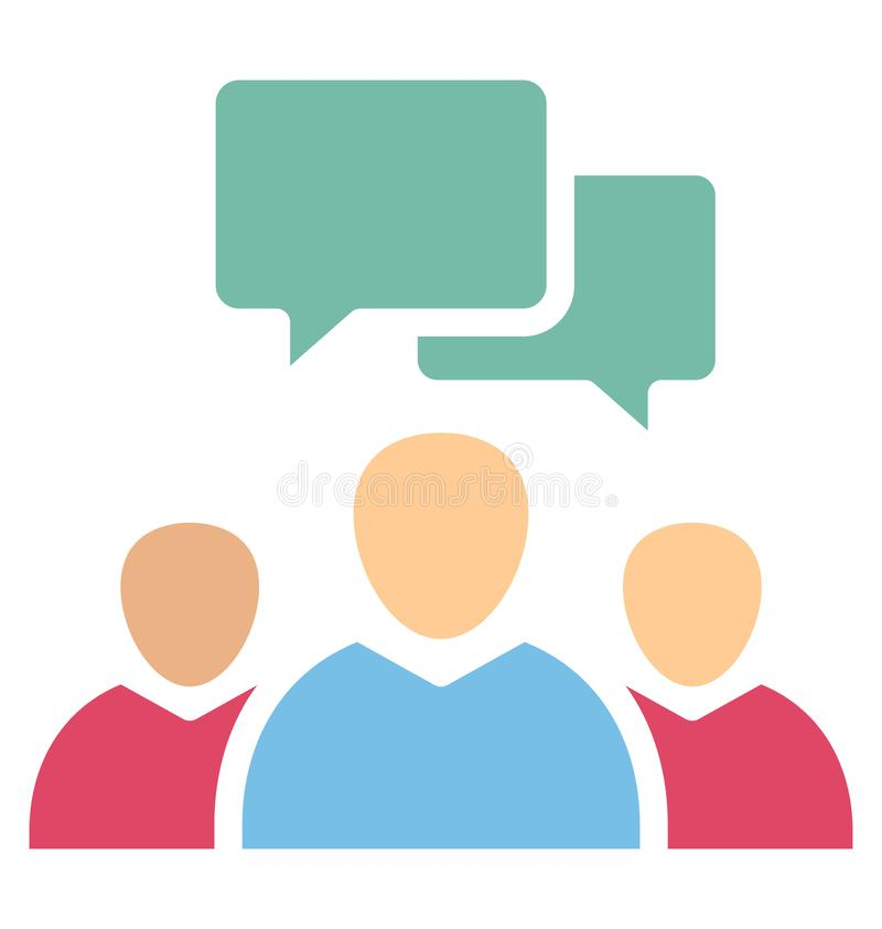 Icona di chiacchierata di vettore isolata membri della stampa che pu? modificare o pubblicare facilmente royalty illustrazione gratis