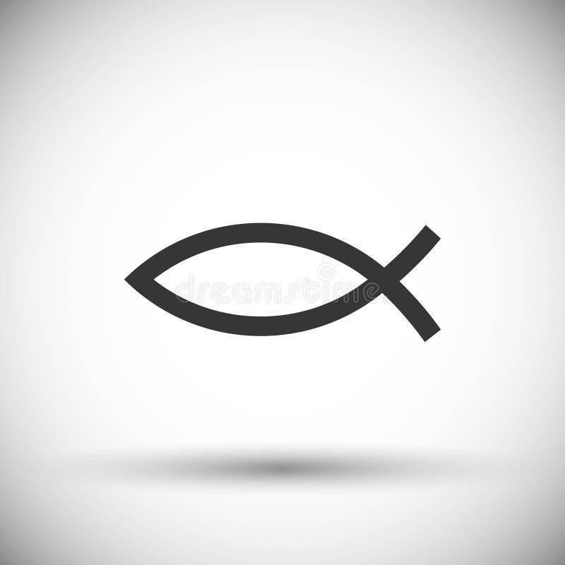 Icona di Christian Fish Symbol illustrazione di stock