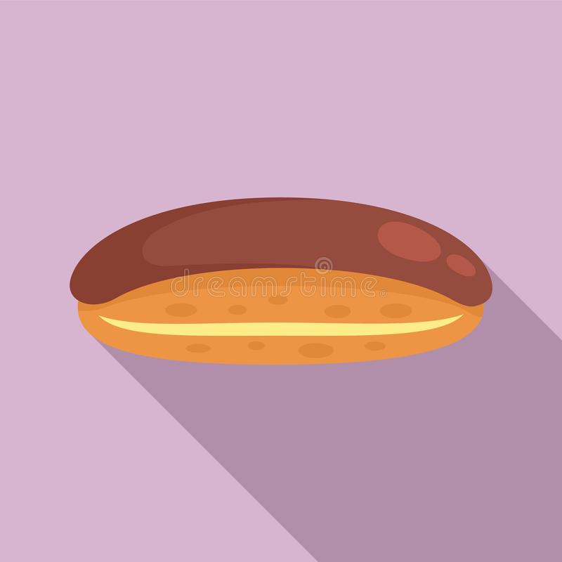Icona di cioccolato in stile piatto illustrazione vettoriale