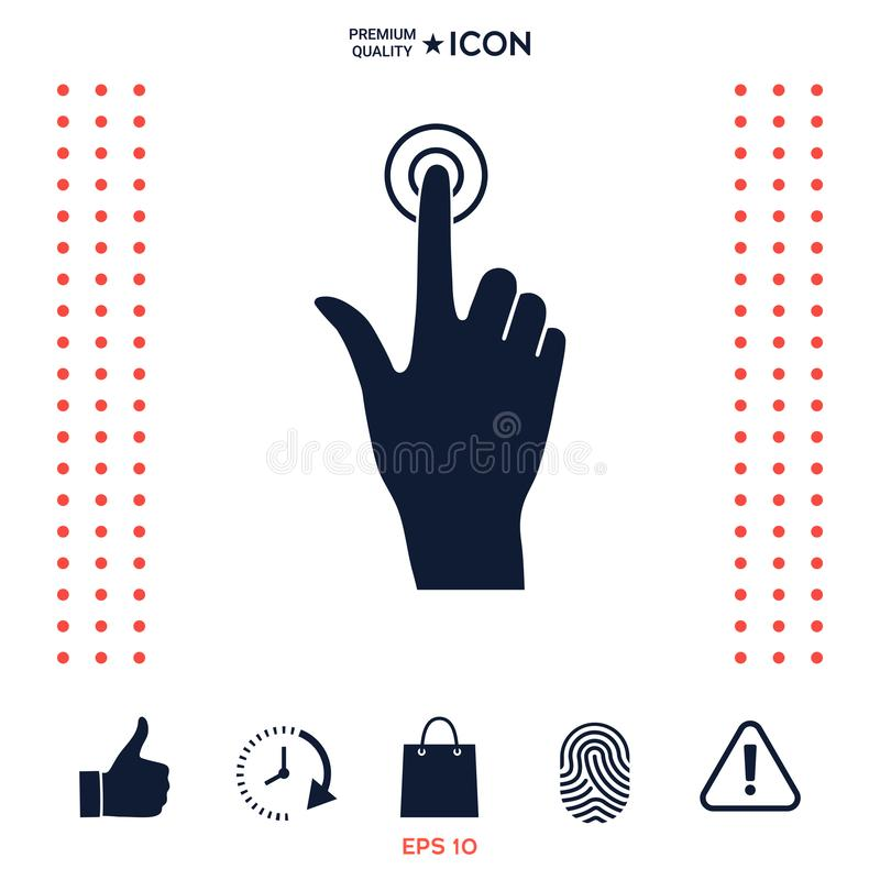 Download Icona di clic della mano illustrazione vettoriale. Illustrazione di scelga - 117975193