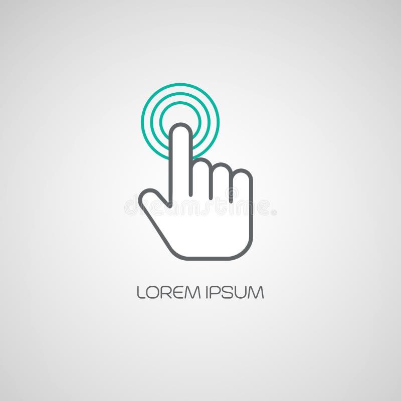 Icona di clic della mano Illustrazione di vettore illustrazione di stock