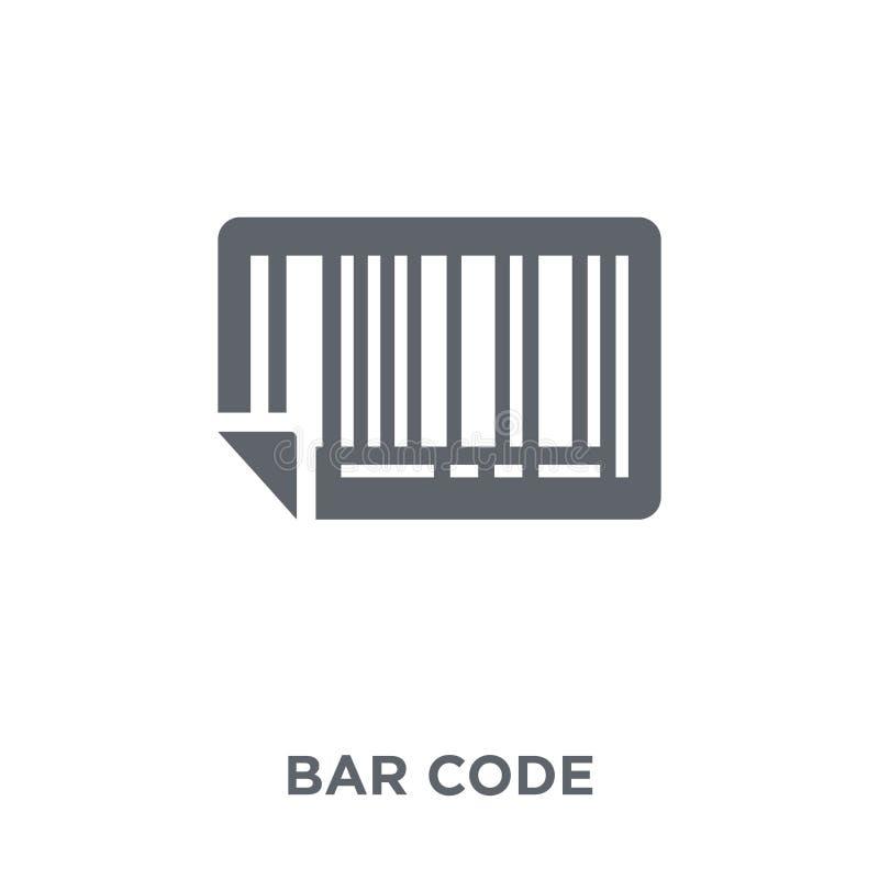 Icona di codice a barre dalla consegna e dalla raccolta logistica illustrazione vettoriale