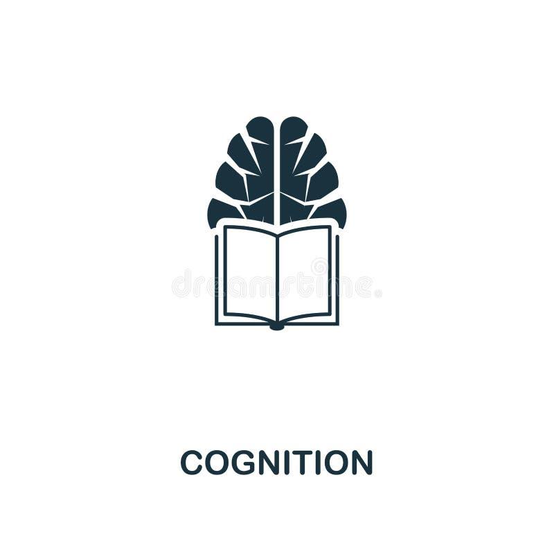 Icona di cognizione Progettazione premio di stile dalla raccolta dell'icona di intelligenza artificiale UI e UX Icona perfetta di illustrazione vettoriale