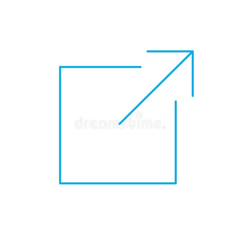Icona di collegamento esterno royalty illustrazione gratis