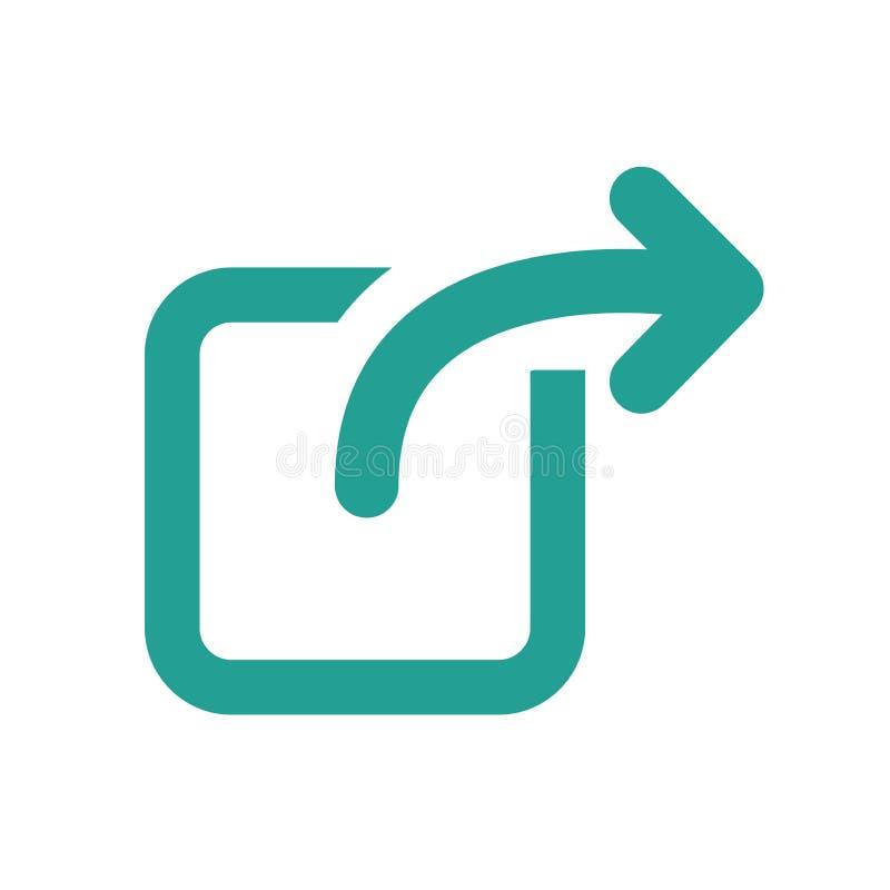 Icona di collegamento esterno illustrazione vettoriale