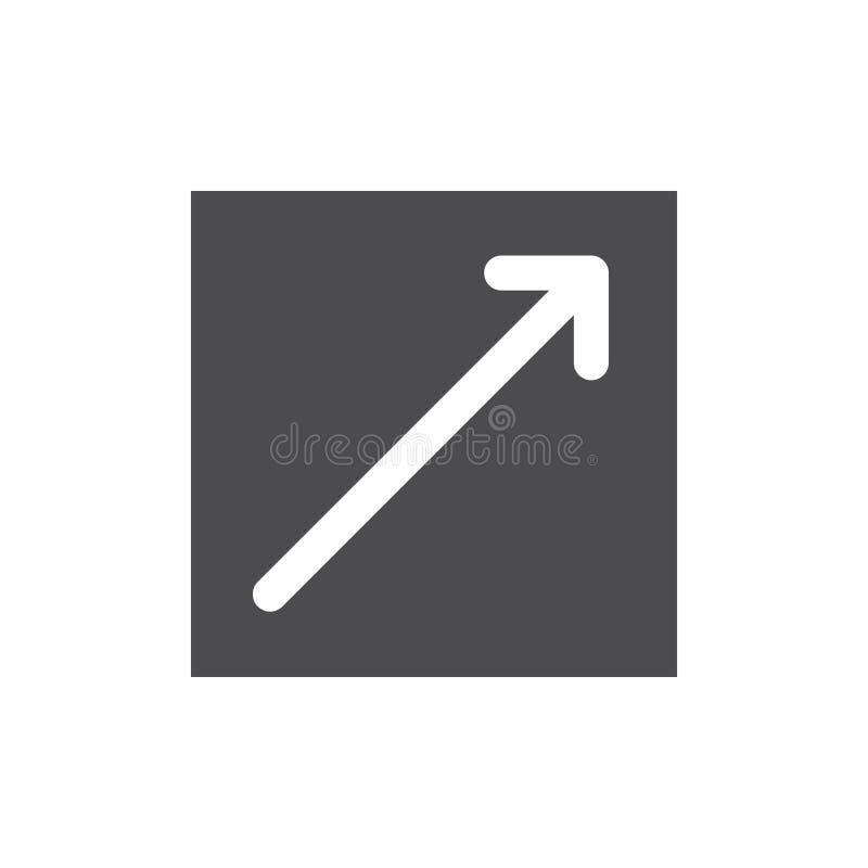 Icona di collegamento esterno illustrazione di stock